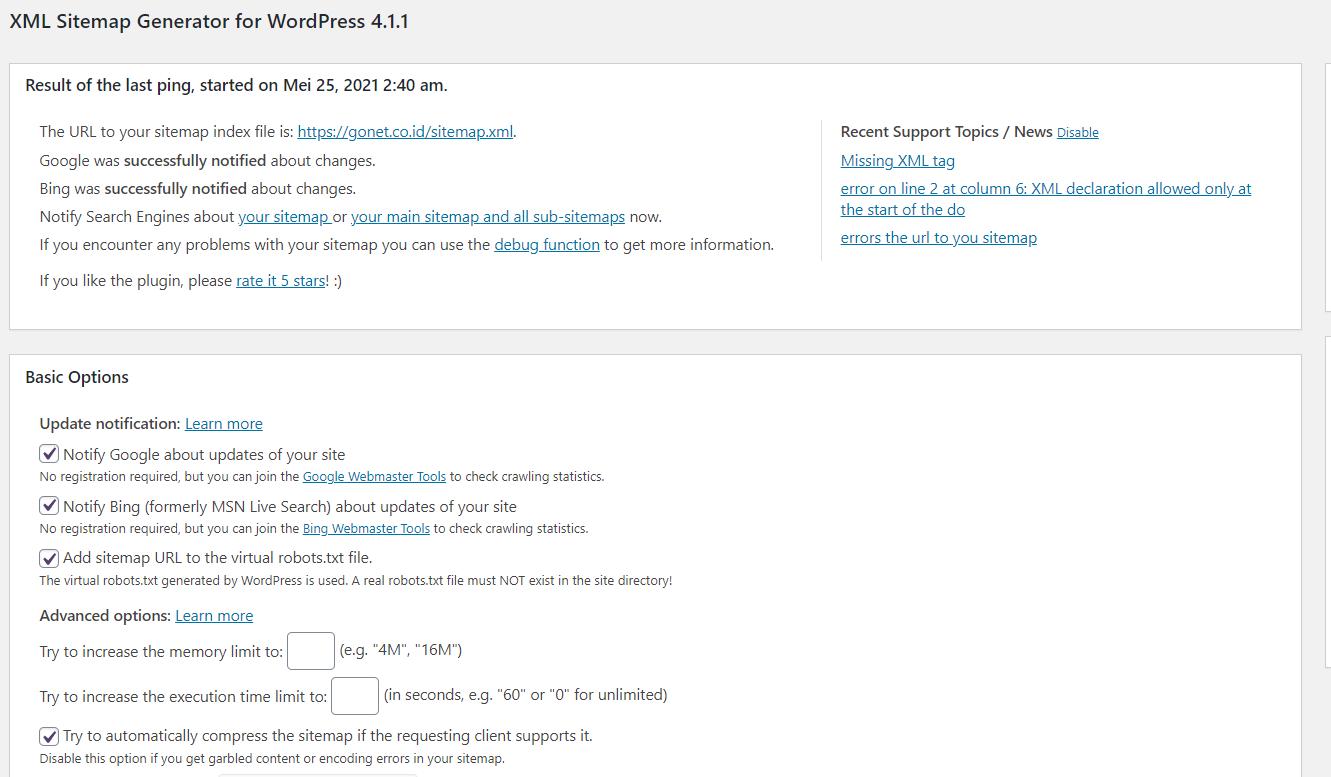 Plugin Google XML Sitemap Untuk Membuat Sitemap