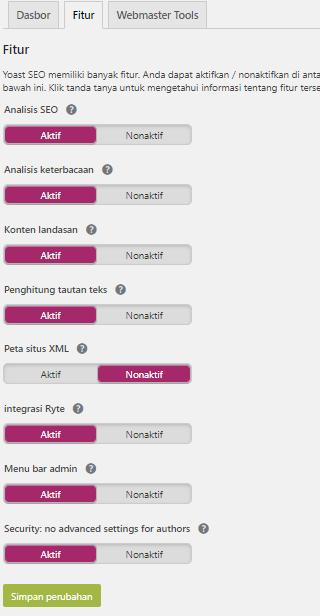 Plugin Yoast SEO Untuk Membuat Sitemap